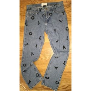 Current Elliot love print jeans never worn